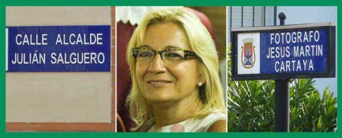 Carmen Tovar les dedicó sendas calles siendo alcaldesa; ahora los nombra al palco maestrante como delegada de la Junta. (FOTOS: Paco Díaz y J. Arroyo)