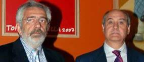 Los empresarios de la Maestranza, Eduardo Canorea y Ramón Valencia. (FOTO: Matito)