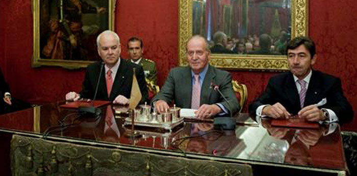 El Rey presidió previamente la Junta de Gobierno de la Real Corporación. (FOTO: EFE)