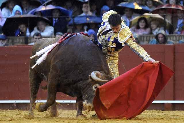 Toro y torero se funden en una misma materia llena de compás.