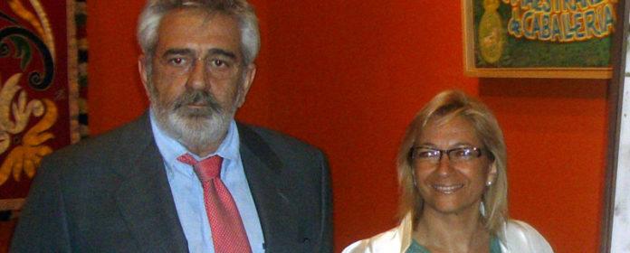 El empresario Eduardo Canorea junto a la delegada Carmen Tovar. (FOTO: Toromedia)