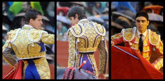 LOS GESTOS: El Juli, Castella y Perera. (FOTOS: Matito)
