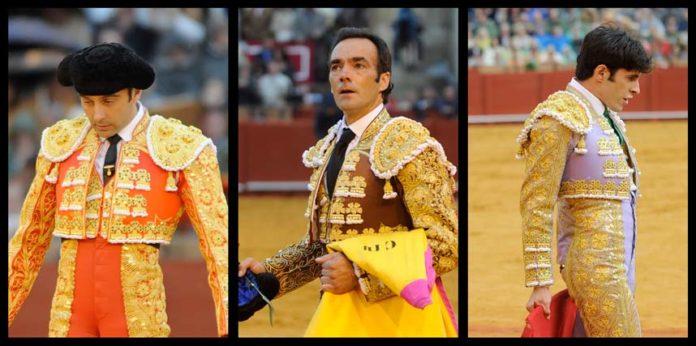 LOS GESTOS: Ponce, El Cid y Talavante. (FOTOS: Matito)