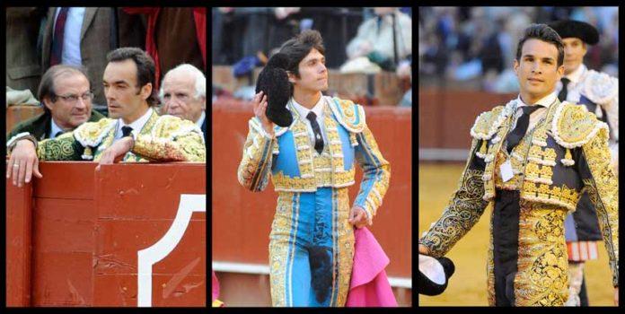 LOS GESTOS: El Cid, Castella y Manzanares. (FOTO: Matito)