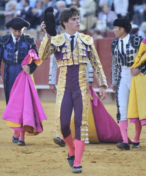 Rubén Pinar, en la vuelta al ruedo en el tercero. (FOTO: Matito).
