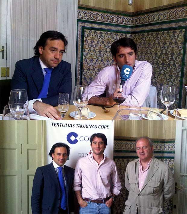 Arriba, Francisco Mateos junto a Fernández Pineda; abajo se suma el fotógrafo Carlos Núñez.