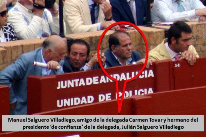 Manuel Salguero Villadiego, médico, vecino de Castilleja, amigo personal de la delegada Carmen Tovar y hermano del presidente de la plaza, Julián Salguero. (FOTO: Javier Martínez)