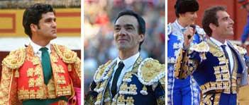 Morante, El Cid y Salvador Cortés. (FOTOS: Matito)