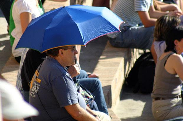 Los paraguas también son para el verano.
