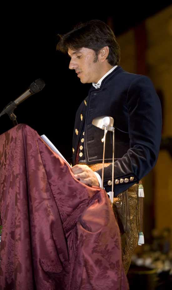 Diego Ventura, en su pregón. (FOTO: Toromedia)