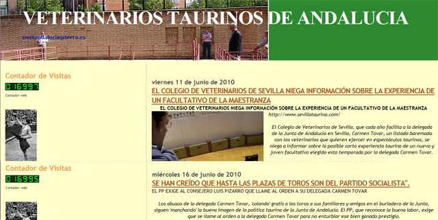El blog de los veterinarios andaluces se interesa por el caso 'Castilleja connection' a través de SEVILLA TAURINA.