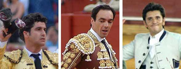 Los sevillanos Morante, El Cid y Diego Ventura.