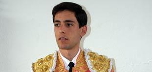 El novillero granadino Alejandro Enríquez, el 5 de septiembre en la Maestranza.