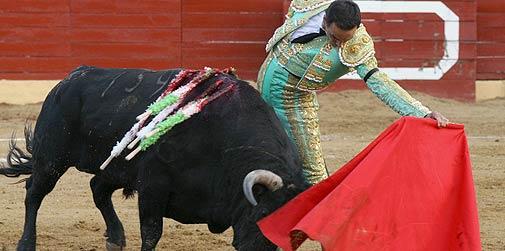 El Cid, esta tarde en El Escorial. (FOTO: Cabrera/burladero.com)