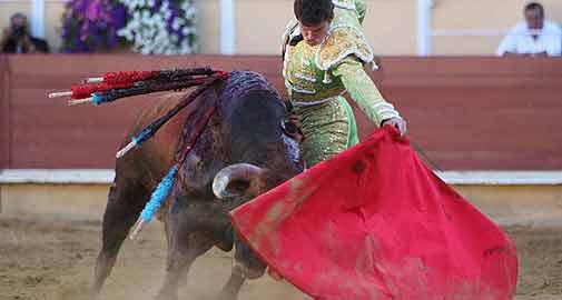 Daniel Luque, torando hoy en Bayona. (FOTO: burladero.com)