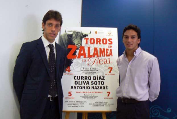 Los sevillanos Antonio Nazaré y liva Soto acudieron al acto de presentación del cartel de Zalamea. (FOTO: ambitotoros)