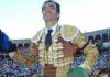 El Cid, en su salida a hombros esta tarde en Salamanca. (FOTO: Menacho / burladero.com)