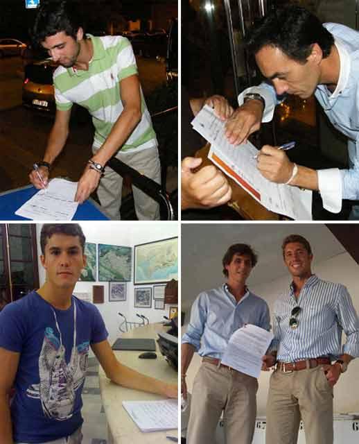 Miguel Ángel Delgado, El Cid, Daniel Luque, César Girón y Manuel Escribano, diestros sevillanos que ya han apoyado la iniciativa del Club Taurino de Osuna.