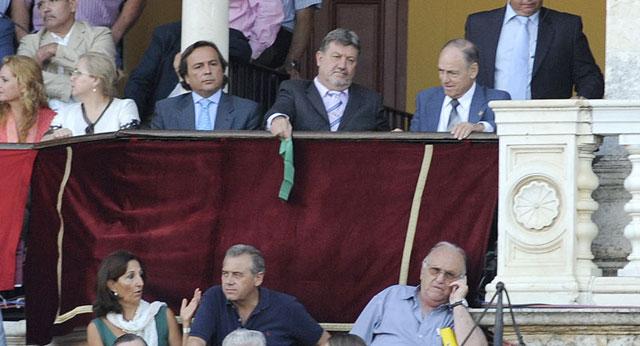 Francisco Herrera, junto a Fernández Rey, el domingo en la Maestranza. (FOTO: Sevilla Taurina)
