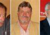 El ganadero Fernando Domecq, el presidente Gabriel Fernández Rey y el empresario Eduardo Canorea.