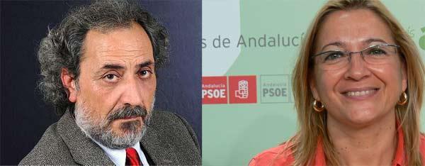 El Defensor del Pueblo andaluz, José Chamizo, y la delegada de la Junta en Sevilla, Carmen Tovar.