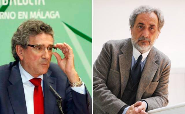 El consejero de Gobernación y Justicia de la Junta de Andalucía, Luis Pizarro, y el Defensor del Pueblo Andaluz, José Chamizo.
