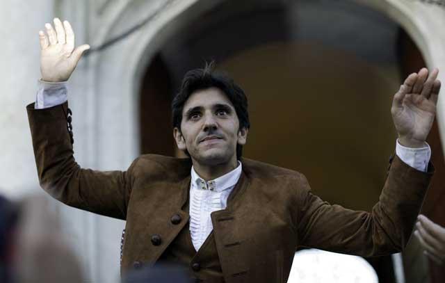 Diego Ventura, por la Puerta del Príncipe esta tarde. (FOTO: Carlos Núñez / Toromedia)