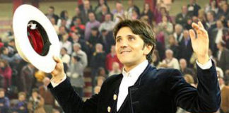 Diego Ventura, esta tarde en Zaragoza. (FOTO: burladero.com)