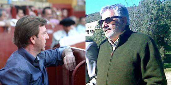 El apoderado de Morante, Curro Vázquez, y el empresario Eduardo Canorea. (FOTOS: Sevilla Taurina)