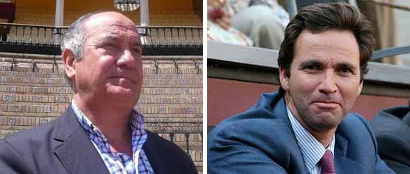El empresario Ramón Valencia y el ganadero Álvaro Núñez.