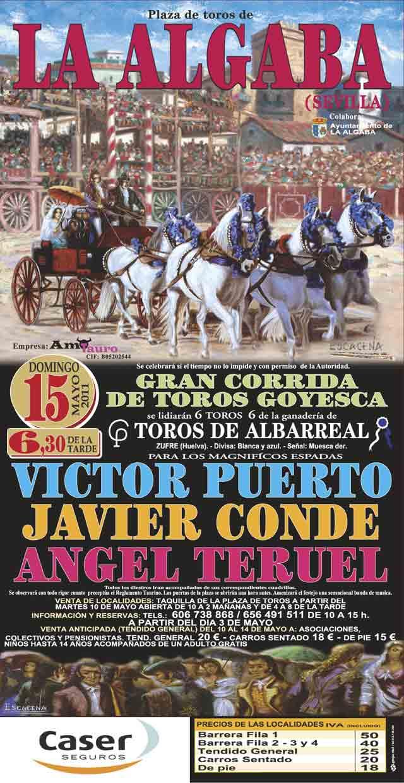 Cartel de LA ALGABA para el Domingo, 15 de mayo de 2011.