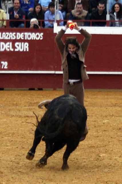 Juan José Padilla con los palos.
