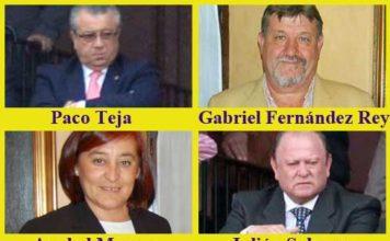 Los cuatro presidentes de la pasada temporada en la Maestranza.