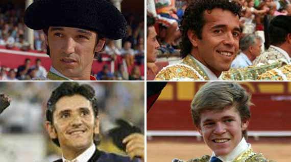 Luis Vilches, Víctor Puerto, Diego Ventura y Borja Jiménez, en Dax.