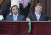 Francisco Herrera, junto al presidente Fernández Rey en el palco presidencial el nefasto día en el que aprobó la escandalosa corrida de Zalduendo. (FOTO: Sevilla Taurina)