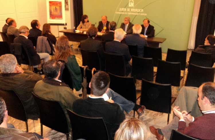 Asistentes a la rueda de prensa de presentación de las Jornadas. (FOTO: Javier Martínez)