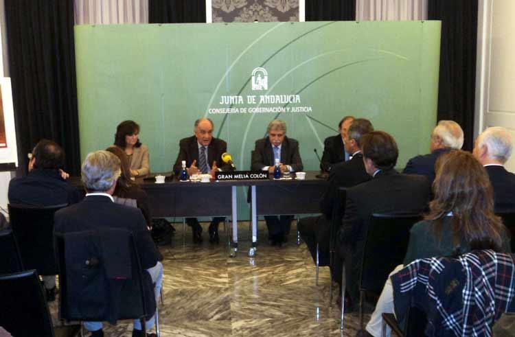 Carmen Calvo, Miguel Cid, Brenes y García Escudero. (FOTO: Javier Martínez)