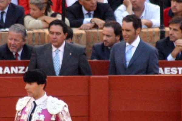 Tomás Campuzano y Luis Mariscal, apoderados de Salvador Cortés. (FOTO: Javier Martínez)