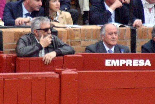 Los empresarios de la plaza, Eduardo Canorea y Ramón Valencia. (FOTO: Javier Martínez)
