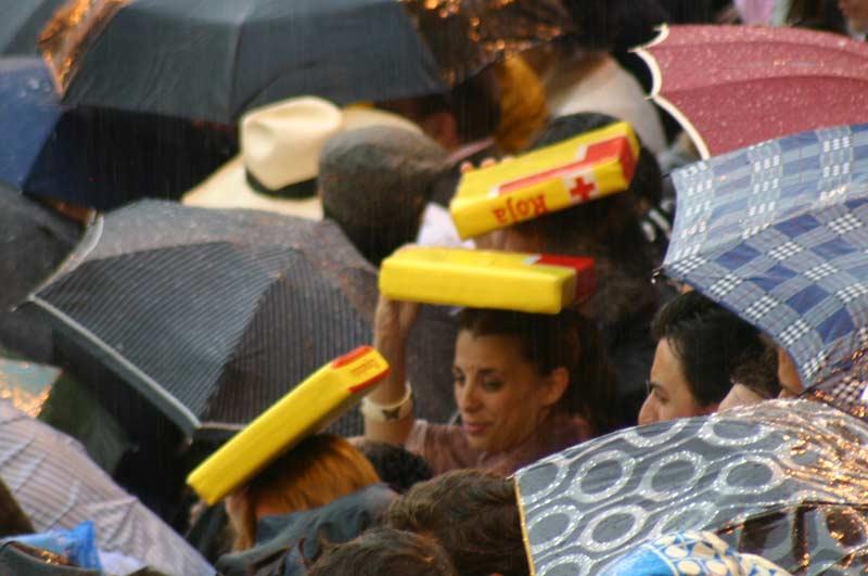 Ls almohadillas de la plaza: de estar debajo... a pasar a lo más alto. (FOTO: Javier Martínez)