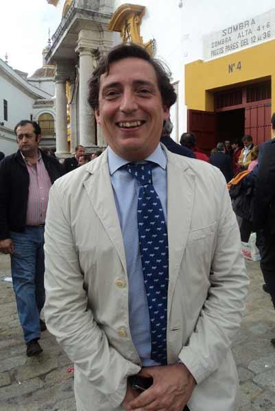 El ganadero sevillano Luis Garzón, del hierro Hermanos Garzón. (FOTO: Javier Martínez)