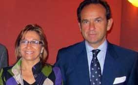 La delegada Carmen Tovar y 'su' nuevo presidente, Fernández-Figueroa.