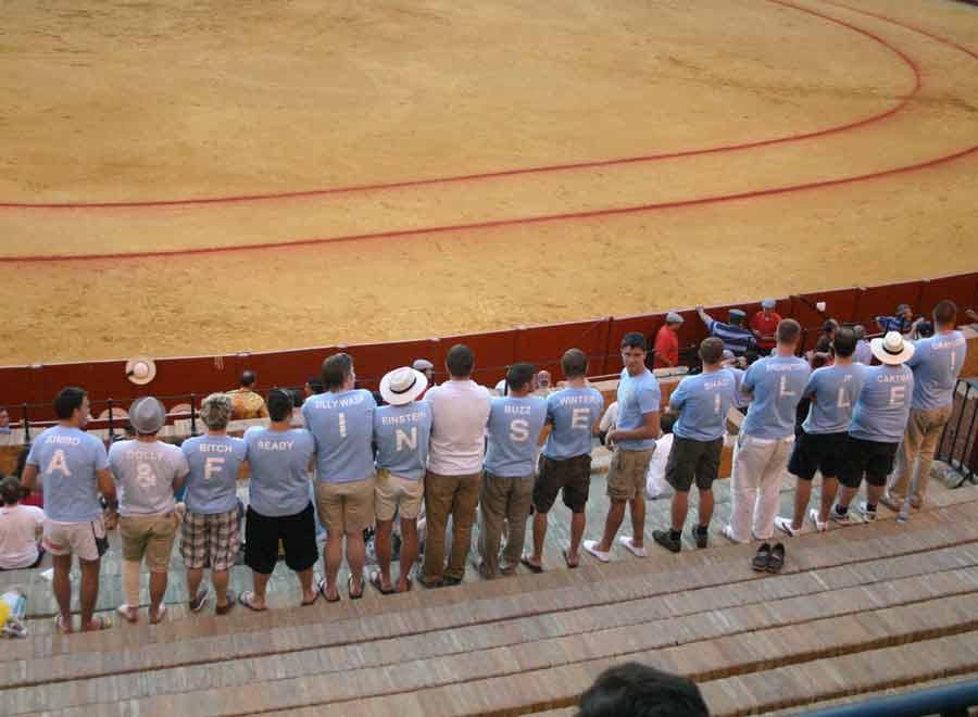 Querían salir en la foto y lo lograron: 'A&F in Seville!' (FOTO: Javier Martínez)