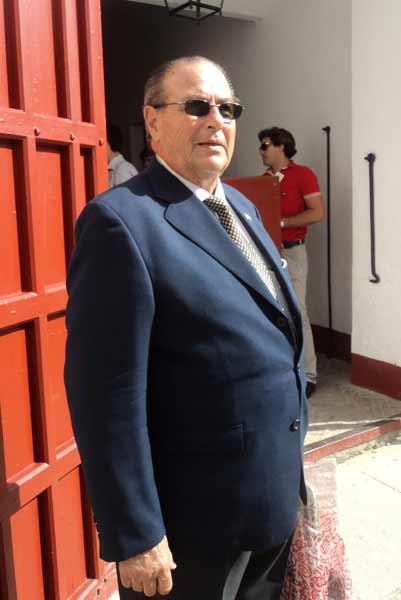 El veterano banderillero Alfonso Ordóñez Araujo. (FOTO: Javier Martínez)