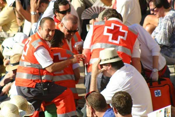 La Cruz Roja hizo varios servicios en el último festejo ferial. (FOTO: Javier Martínez)