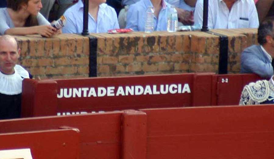 La Junta de Andalucía ha preferido dejar cinco o seis plazas vacías en su burladero para las dos primeras novilladas antes que facilitar el acceso a este espacio sobrante al fotógrafo de SEVILLA TAURINA: (FOTO: Javier Martínez)