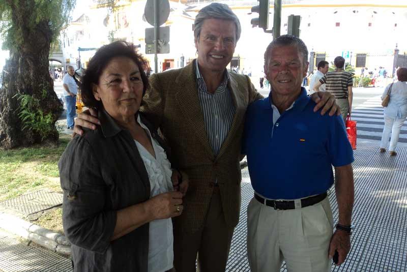 Los padres de Espartaco, ganadero hoy en la Maestranza, (FOTO: Javier Martínez)