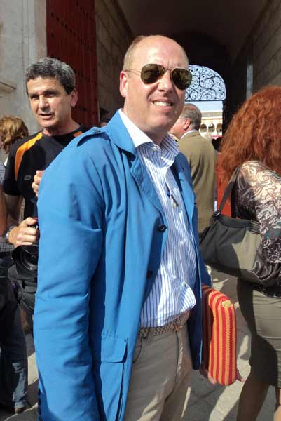 El periodista taurino de ABC-Sevilla y autor de varios libros, Fernando Carrasco. (FOTO: Javier Martínez)