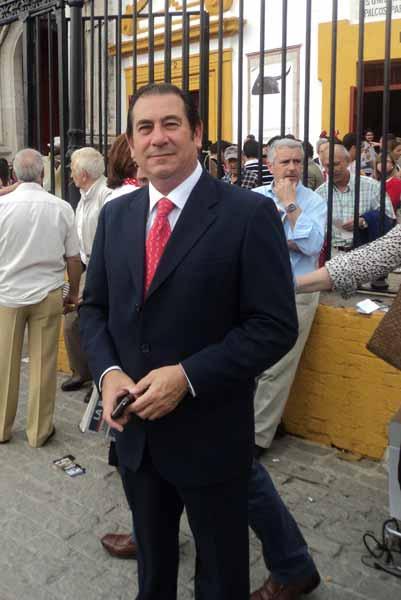 El apoderado sevillano, José Luis Cazalla. (FOTO: Javier Martínez)