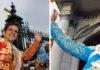El Juli y Manzanares, por la Puerta del Príncipe en la Feria de Abril. (FOTOS: lamaestranza.es)